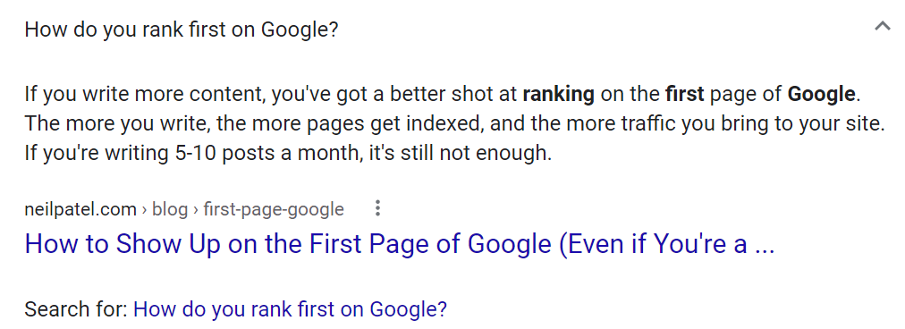 how do you rank on the front page of google